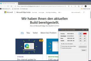 Microsoft Edge Dev 81.0.416.3 wieder mit vielen Verbesserungen