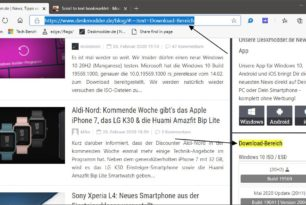 Scroll to Text Fragment als Lesezeichen anlegen in Chromium Browsern