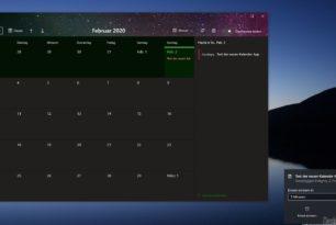 Windows 10 Kalender App – Preview Test jetzt wohl für weitere freigegeben
