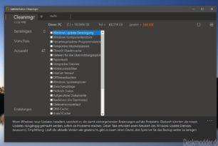 Cleanmgr+ 1.32.1000 behebt Fehler bei der Bereinigung des WinSxS-Ordners