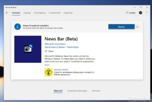 News Bar App nun im Beta Status
