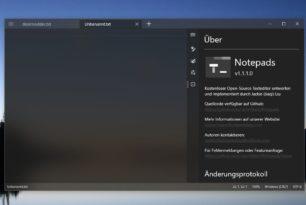 Notepads App 1.1.1.0 mit vielen neuen Funktionen