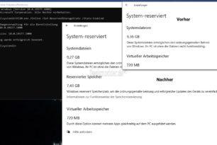 """Windows 10 2004 Microsoft verbessert die Deaktivierung oder Aktivierung vom """"Reservierten Speicher"""""""
