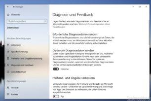 Windows 10: Die neuen Einstellungen für die Diagnosedaten angeschaut