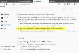 Firefox 75 fragt ständig den Standardbrowser ab