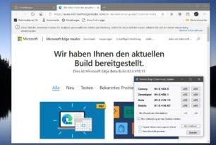 Microsoft Edge 83.0.478.13 im Beta-Kanal erschienen