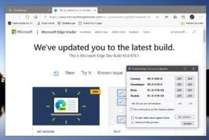 """Microsoft Edge 83.0.478.5 Dev als """"Beta"""" für die Stable"""