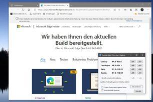 Microsoft Edge 84.0.488.1 im Dev-Kanal wieder mit neuen Funktionen