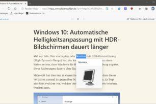 """Microsoft Edge jetzt mit Bilder-Wörterbuch beim """"Laut vorlesen"""" im Reader Modus"""