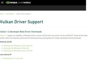 Nvidia Vulkan 1.2 Treiber 442.86 steht zum Download bereit