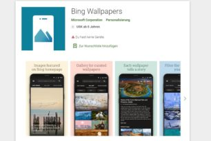 Android: Bing Wallpaper App nun auch im Play Store