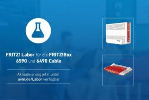 FRITZ!Box 6590 Cable und FRITZ!Box 6490 Cable mit einem Laborupdate