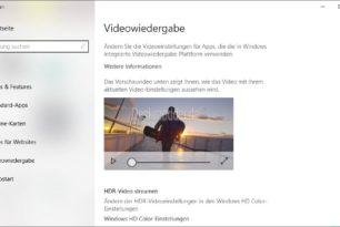 HDR-Videos streamen lässt sich in der Windows 10 1903 / 1909 nicht aktivieren [Workaround]