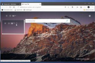 """Microsoft Edge: Temperaturanzeige nun mit Angabe Celsius / Fahrenheit und Wechsel per """"Klick"""""""