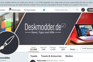 Twitter stellt die alte Ansicht zum 1.06.2020 ein