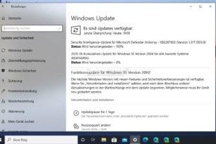 Funktionsupdate auf die Windows 10 20H2 im Slow Ring steht bereit