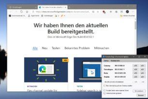 Microsoft Edge 83.0.478.56, 84.0.522.26 und 85.0.552.1 aktualisiert
