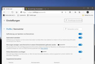 Microsoft Edge prüft Passwörter, ob sie gehackt wurden und bietet sichere Passwörter an [Update]