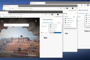 """Microsoft Edge """"Sammlungen senden"""" wird um Pinterest und OneNote erweitert"""