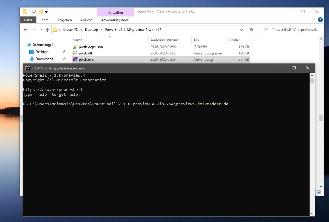 PowerShell 220.220 Preview 220 und .NET 220.20 Preview 20 sind erschienen ...