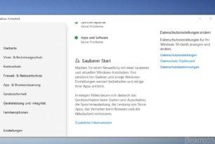 """""""Sauberer Start"""" wurde aus der Windows 10 2004 entfernt [Update: Doch noch da]"""