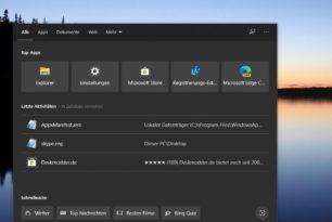 """Windows 10: Wetter als """"Kachel"""" in der Windows Suche"""