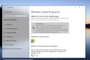 Windows 10 Insider – Kanalwechsel wurde vollzogen