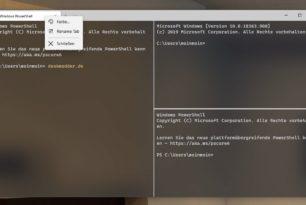 Windows Terminal 1.1.1671.0 als neue Preview