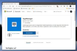 AppManager im Microsoft Store – Fast identisch mit den Einstellungen, aber…