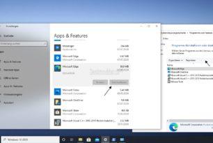 Microsoft Edge deinstallieren – Auch wenn es grau hinterlegt ist