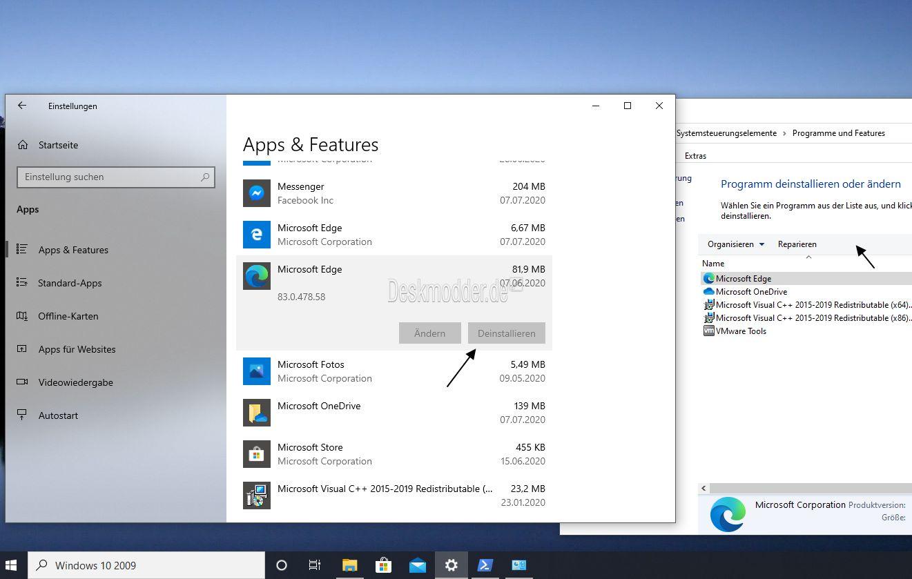 Microsoft Edge Deinstallieren Auch Wenn Es Grau Hinterlegt Ist Deskmodder De