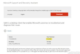 Microsoft Support and Recovery Assistant (SaRA) wurde aktualisiert