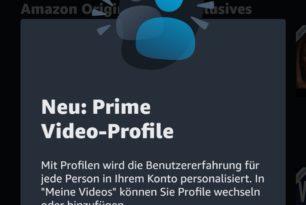 Amazon Prime Video: Anlegen mehrerer Benutzerprofile kommt in Deutschland an