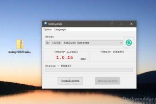 Ventoy 1.0.15 jetzt auch mit GPT-Partitionsstil und mehr
