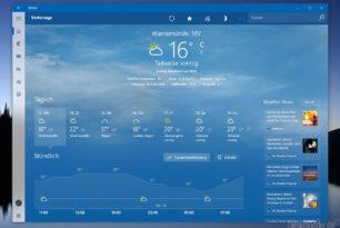 Windows 10 Wetter App jetzt mit News in der Vorhersage