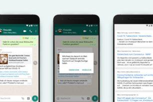 WhatsApp bekommt Websuche spendiert