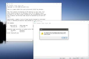hosts Datei mit blockierten Microsoft URLs werden vom Defender als Win32/HostsFileHijack angezeigt
