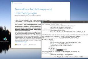 Das MCT installiert nun die Windows 10 2004 19041.450