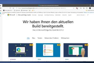 Microsoft Edge Dev 86.0.615.3 mit weiteren neuen Funktionen aber auch bekannten Fehlern