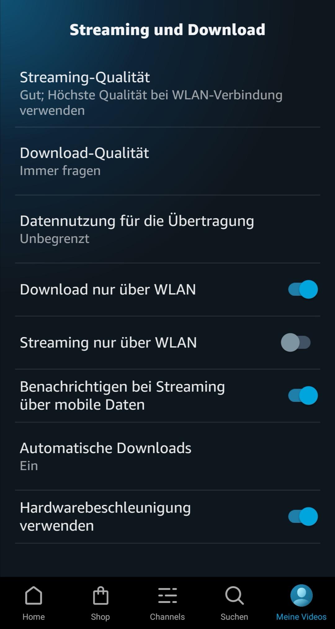 "Amazon Prime Video: ""Automatische Downloads"" in der Android App"