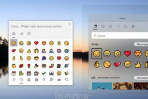 Windows 10 Emoji in neuer transparenter Ansicht + Gifs + Bildschirmtastatur