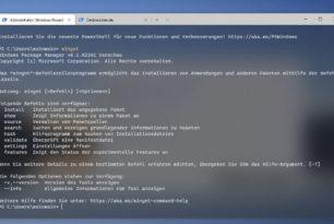 Windows Package Manager 0.1.42241 mit einer neuen Funktion