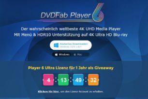 Giveaway: DVDFab Media Player 6 Ultra mit einer 1 Jahres Lizenz