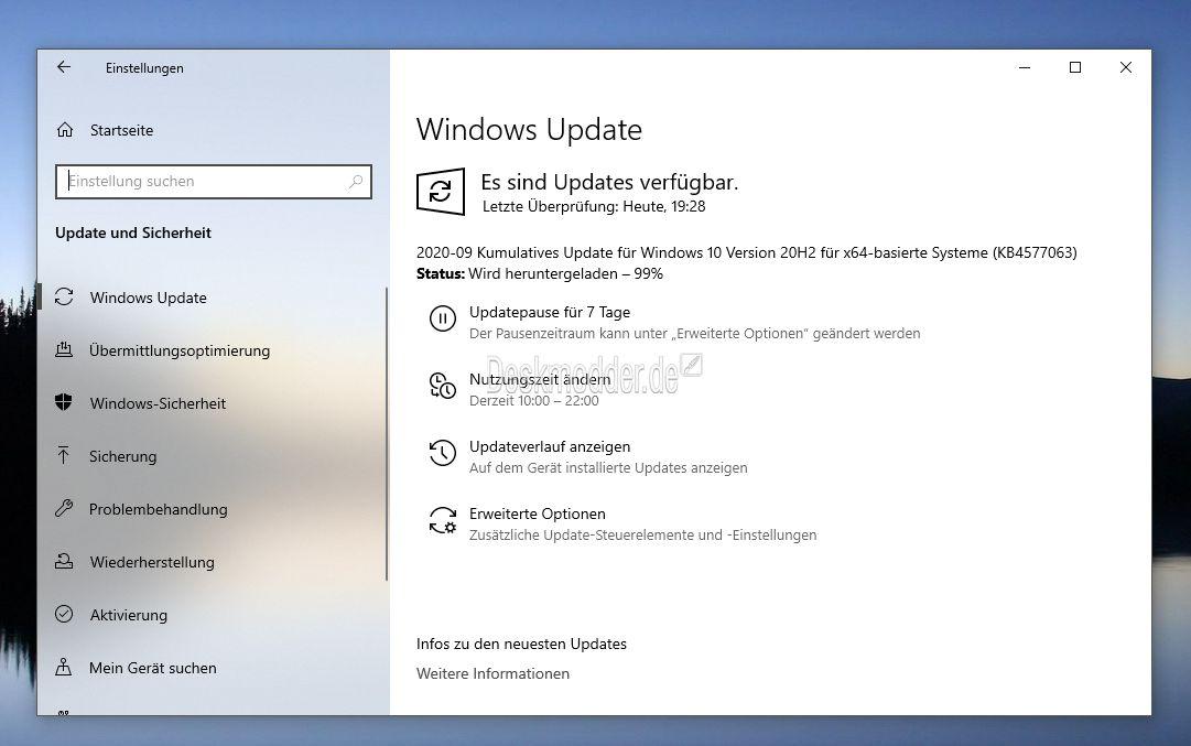 Photo of KB4577063 [Manueller Download] Windows 10 20H2 / 2004 19042.546 und 19041.546 [Jetzt für alle]