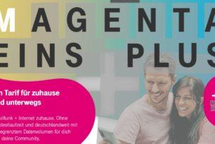 MagentaEINS Plus S oder M mit Festnetz und mobiler Nutzung ohne Limit im neuen Paket