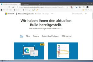 Microsoft Edge 86.0.622.11 mit vielen interessanten Verbesserungen u.a. Rollback und Win 7 Profilwechsel
