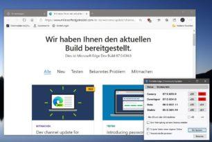 Microsoft Edge 87.0.634.0 im Dev-Kanal erschienen 85.0.564.51 im Stable