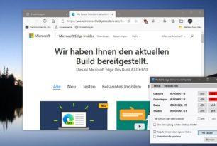 Microsoft Edge 87.0.637.0 im Dev Kanal  und Beta 86.0.622.15 erschienen