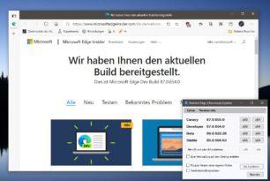 Microsoft Edge 87.0.654.0 ist im Dev Kanal erschienen