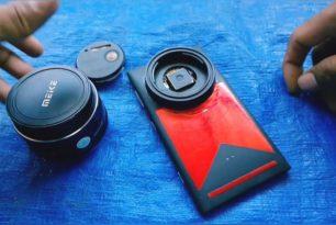 Nokia Lumia 1020 modifiziert mit einem SLR-Objektiv